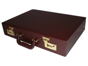 Executive-Style Business Attache Case - Burgundy
