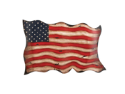 Antique-Style American Flag Hanging Metal Wall Decor Americana
