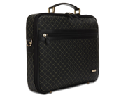 Rioni Signature Jetsetter's Laptop Briefcase - Signature Black
