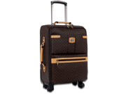 "Rioni Signature 21"" Spinner Upright Carry-On Luggage Piece - Signature Brown"