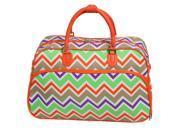 "All-Seasons New Age ZigZag 21"" Carry-On Shoulder Tote Duffel Bag - Orange Trim"