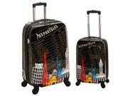 Rockland Departure 2-Piece Lightweight Hardside Spinner Luggage Set