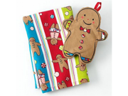 St Nicholas Square Gingerbread Man Kitchen Towel & Potholder Set Pot Holder