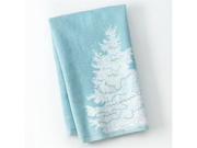 St Nicholas Square Holiday Kitchen Towel Set Blue Christmas Tree 2 Towels