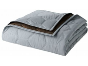 Apt 9 King Brown & Gray Reversible Prism Quilted Coverlet Solid Color Quilt