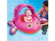 Swim Ways Sun Canopy Baby Boat Infant Pool Float Pink Fish