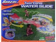 Banzai Twin Curve Water Slide 16' Water Tunnel with Body Board