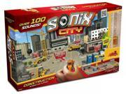 Sonix City Construction Interactive Playset Over 100 Sounds & 2 Micro Vehicles