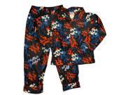 Arizona Boys Blue Flannel Skull & Crossbones Pajamas Sleepwear Set PJs