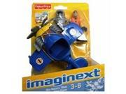 Fisher Price Imaginext Sky Racer Blue Mini Plane Toy Airplane