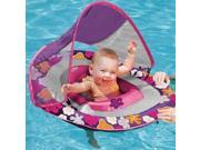 Swim Ways Baby Spring Float with Sun Canopy Purple Floral Design