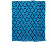 Celebrate Blue Lattice Beach Blanket Oversized Cotton Beach Towel 60x72