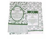 Design Imports Kitchen Recipe Towel Set of  2 Green Towels