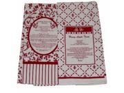 Design Imports Kitchen Recipe Towel Set of  2 Red Towels