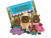 Li'l Woodzeez *Waterwaggles* Beaver Family Mini Busy Launderette Plush Pals 9SIA1755N96179