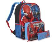 "Marvel Spiderman 16"""" Backpack with Lunch Box Glittery Spider-Man Back Pack"" 9SIA1755TX5928"