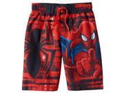 Marvel Spiderman Little Boys Red Swim Trunks Board Shorts 4 9SIA1756BA4940