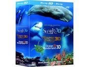 Jean-Michel Cousteau's Film Trilogy 3D Blu-ray Box Set (Dolphins & Whales / Sharks / Ocean Wonderland) [Region-Free]