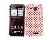 3D Embossed Snap-On Case for HTC Droid DNA - Red/White Checkers