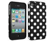 OEM Verizon Broodie Hard Cover Case for Apple iPhone 4/4S (Black and White Polka Dot) (Bulk Packaging)
