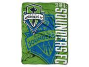 S Sounders MLS 46x60 Micro Raschel Throw