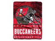 Bucs 50 x60 Silk Touch Throw Stacked Series