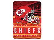 Chiefs 50 x60 Silk Touch Throw Stacked Series