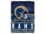 Rams 50 x60 Silk Touch Throw Stacked Series