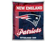 Patriots National Football League 50 x60 Mink with Sherpa Throw Old School series