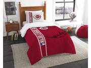 Reds Twin Embroidered Comforter 1 Sham Set