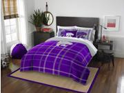 Kansas State Collegiate Full Embroidered Comforter & 2 Sham Set