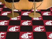 "Fanmats Washington State University Cougars Carpet Tiles 18""x18"" tiles"