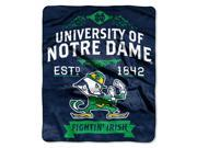 Notre Dame College Retro 50x60 Raschel Throw