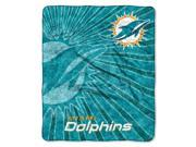 Dolphins 50x60 Sherpa Throw Strobe Series