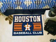 "Fanmats Houston Astros Baseball Club Starter Rug 19""x30"""
