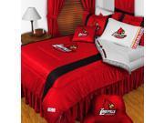 NCAA Louisville Cardinals Comforter Pillowcase College Bed