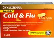 Good Sense Cold & Flu Severe with Pain Relief 24 Ct Case Pack 24
