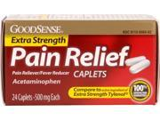 Good Sense Extra Strength Pain Relief Caplets 500 mg 24 Ct Case Pack 24