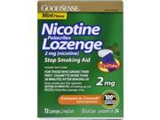 Good Sense Nicotine Lozenge 2 mg- Mint Case Pack 6