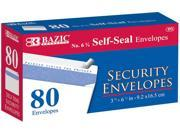 Bazic #6 3/4 Self-Seal Security Envelope - 80 Pack Case Pack 24