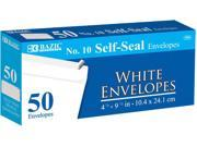 Bazic 574- 24 10 Peel and Seal White Envelope- Pack of 24