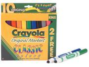 Crayola Broad Line Markers Classic Colors 10 Count