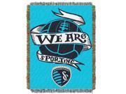 Kansas City Sporting  MLS 48x60 Tapestry Throw