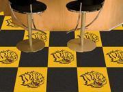 """Fanmats University of Arkansas - Pine Bluff Golden Lions Carpet 18""""""""x18"""""""" Tiles"""" 9SIA62V5BG6827"""