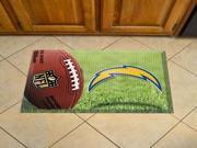 "NFL - San Diego Chargers Scraper Mat 19""""""""x30"""""""" - Ball"" 9SIA17P3V82909"