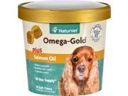 NaturVet Omega Gold Plus Salmon Oil Dogs Cup 90 Soft Chews