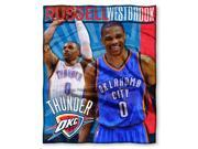 """Thunder - Russell Westbrook National Basketball Association, 50""""""""""""""""x 60"""""""""""""""" Players High Definition Silk Touch Throw"""" 9SIA17P47X6945"""