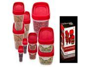 Imperial Home Plastic Food Container Set - Red Lids Case Pack 24 9SIA17P49N9991