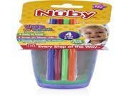 Nuby Wash or Toss 10 oz. Cups with Straw + Lid (4 pack) Case Pack 24 9SIA17P4HJ4832