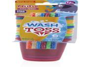 Nuby Wash or Toss 10 oz. Cups with Straw + Lid (6 pack) Case Pack 72 9SIA17P4HJ4869